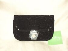 Vera Bradley Flap Id Black Microfiber NWT Free Shipping Buy Now $16