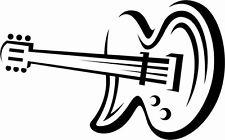 N3 ,Musikinstrument, Aufkleber, Gitarre, Note, Wand ,Auto
