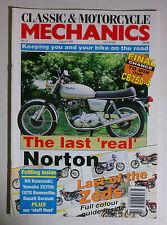 CLASSIC MOTORCYCLE MECHANICS MAGAZINE CAFE RACER 1993 AUGUST NORTON 850 CB750-4