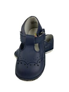 Angel Baby Shoes Toddler Girls Size 6 Navy Blue Mary Janes