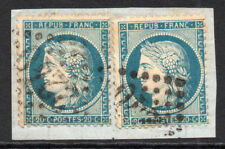 France Two 20 Cent Stamps c1870-71 Used on Piece (3899)