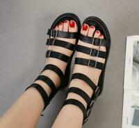 Womens Party New Summer Punk Hollow Out Platform Shoes Gothic Gladiator Sandals
