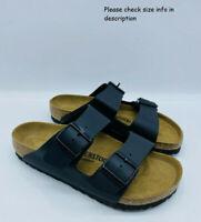 Birkenstock Women's Arizona Double Strap Regular Fit Slide Sandals -  BLACK