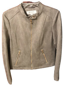 MARC NEW YORK ANDREW MARC Women's Jacket Size Medium Color Gray Gold Zip Up