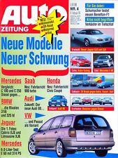 auto zeitung Nr. 4 1994 Mercedes E 60 AMG Saab 900 Turbo Coupé Jaguar BMW 3er