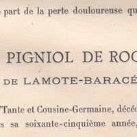 Louise Pigniol De Rocreuse Vicomtesse De Lamote-Baracé La Graffinière Cuon 1887