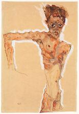 Egon Schiele Drawing Reproductions: Self Portrait - Fine Art Print