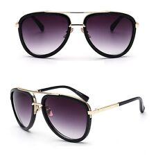 Women Men Large Retro Vintage Aviator Metal Bar Fashion Oversized Sunglasses