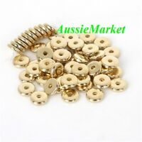 100 x loose gold spacer beads acrylic plastic abacus 8mm x 2mm metallic finish