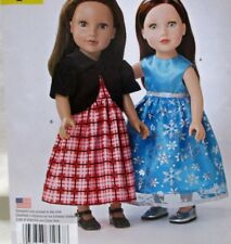 "Simplicity Sewing Pattern A1057 18"" Doll Clothes Dress Uncut 2015"