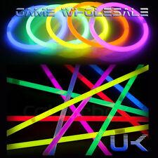 """8"""" Glow Sticks - Neon 6 Colours - Necklace Bracelet Bangle - Party bag Favors"""