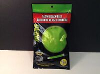NIP Greenbrier Glow In Dark Beach Ball 1 Pc Green