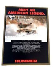 1992 1993 Hummer H1 Original Sales Brochure Folder