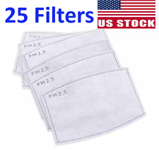 25 Activated Carbon Pm2.5 Face Mask Filter Replacement