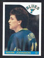 Mark Johnson #44 signed autograph auto 1985-86 Topps Hockey Trading Card