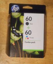 GENUINE HP INK CARTRIDGE 60 BLACK + 60 TRI COLOR COMBO PACK SD511FN nib JUN 2012