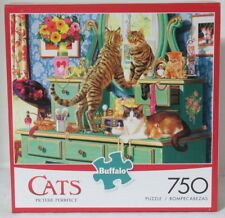 Buffalo Games 750 Piece Puzzle Cats PICTURE PURRFECT kittens dresser makeup
