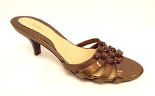 COLE HAAN Size 8 Gold Bronze Slide Sandals Shoes