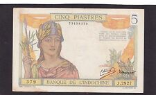 French Indochina 5 Piastres  1946 P-55C    VF