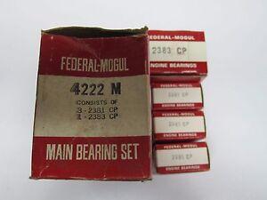 60-75 Ford Mercury 144 170 200 Main Bearing Set 4222M-STD