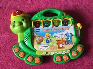 Vtech touch and teach turtle Electronic talking learning Letters and shapes