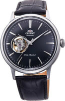 Orient RA-AG0004B10A Men's Bambino Open Heart Skeleton Leather Automatic Watch
