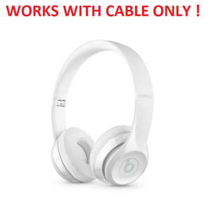Beats Solo3 On-Ear Headphones - White (A1796) [WORKS WITH WIRE ONLY]™