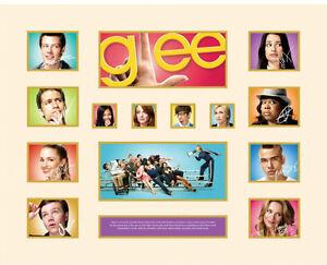 New Glee Signed Limited Edition Memorabilia Framed