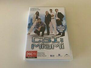 CSI : Miami DVD - Complete Season One 1 - FREE POST!