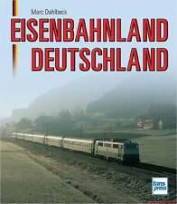 Fachbuch Eisenbahnland Deutschland, viele Bilder von Lokomotiven und Wagen, NEU