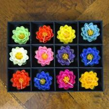 12 Piece, Large Floating Lotus Flower Candles