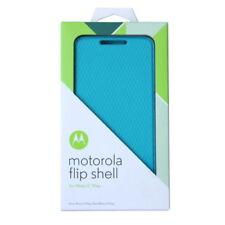 Genuine Motorola Moto X PLAY Flip Shell Case Cover - Turquoise Blue