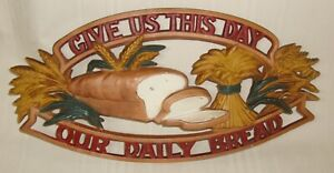 Sexton Vintage Metal Cutout Wall Hanging - Give Us This Day Our Daily Bread