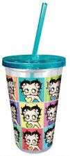 Betty Boop 18 oz Acrylic Cup With Straw