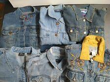 Bulk Clothing Lot: 6 Jacket Female Multi Vintage Denim Large Sizes