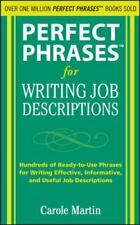 Perfect Phrases for Writing Job Descriptions: Hundreds of Ready-to-Use Phrases