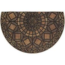 Door Mat Rubber Doormat Gothic Iron Brown 23 in x 35 in Entry Floor Rug Carpet
