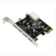 4 Port PCI-E to USB 3.0 HUB PCI Express Expansion Card Adapter 5 Gbps New FR