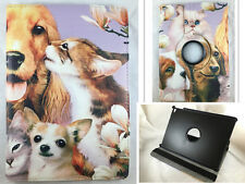 FUNDA CARCASA TABLET IPAD AIR 2 IPAD 6 GIRATORIA 360º DIBUJO ANIMALES