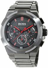 NEW HUGO BOSS MEN'S 1513361 SUPERNOVA METAL GUN EDITION STAINLESS STEEL WATCH