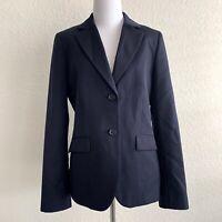 Brooks Brothers 346 Classic Fit Wool Blazer Women's 10 Navy Blue Career Jacket