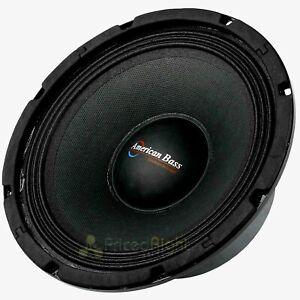 """American Bass SQ-8B 8"""" Midrange Speaker 350 Watts Max 8 Ohms Car Audio"""
