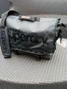 Large Superdry Black Label Messenger Laptop Work, Uni Gym Bag