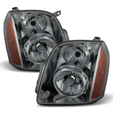 Smoked Headlamps Replacement 2007-2014 Gmc Yukon Xl Denali Headlights Left+Right (Fits: Gmc)