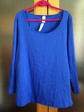 🍭 BRAND NEW WITH TAGS blue Long Sleeve Tshirt Size 26 Cotton