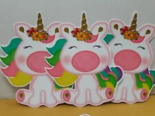 Sweet and Cute UNICORN prints for baby shower or any event decoration 12 pcs