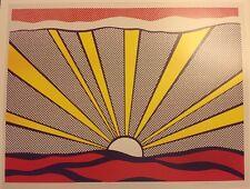 Roy Lichtenstein 1965 Sunrise Poster, For Leo Castelli Gallery Pop Art. P:52