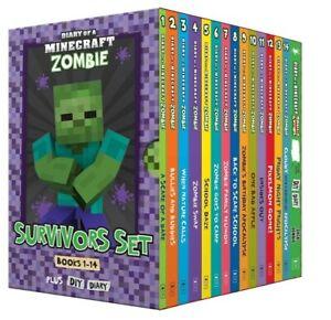 Diary of a Minecraft Zombie: Survivors Books 1-14 + DIY Diary Box Set Kids 2021
