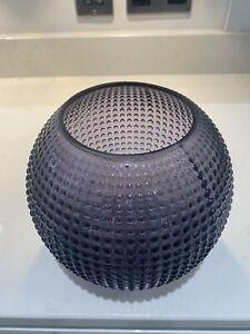 Grey Glass Round Bobble Vase