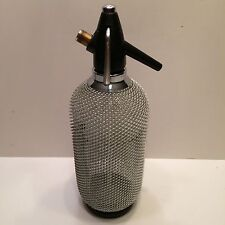 Vintage Merkuria Kovocas Glass Syphon with Wire Mesh Seltzer Soda Bottle